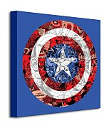Marvel (Captain America Shield Collage) - Obraz WDC95433