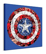 Marvel (Captain America Shield Collage) - Obraz WDC98148