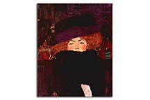 Klimt obraz - Lady with Hat and Featherboa zs10255