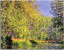 Obrazy Monet - A bend of the Epte Giverny zs10328