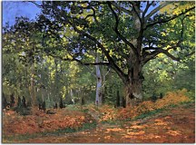 Reprodukcie Claude Monet - The Bodmer oak Fontainbleau forest zs10329