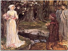 Reprodukcie John William Waterhouse - Dante and Beatrice zs10395
