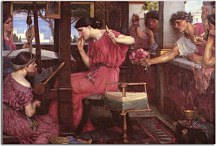 Reprodukcie od John William Waterhouse - Penelope and the Suitors zs10402