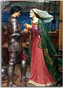 Reprodukcia od John William Waterhouse - Tristan and Isolde Sharing the Potion zs10404