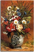 Daisies and peonies in blue vase Paul Gauguin Obraz zs17095