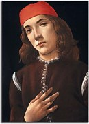 Botticelli obraz - Portrait of the young man na zs17299