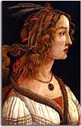 Sandro Botticelli obrazy - Portrait of a young woman zs17302