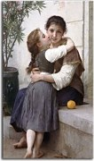 A Little Coaxing zs17315 - William-Adolphe Bouguereau Obraz