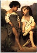 William-Adolphe Bouguereau Obraz - At the Edge of the Brook 2 zs17325