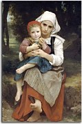 Breton Brother and Sister zs17337 - Obraz