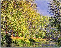 Obraz Monet  Bend in the River Epte zs17694