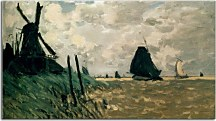 Claude Monet - A Windmill near Zaandam - Obraz zs17699