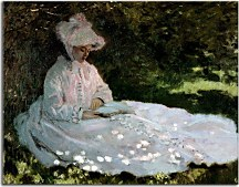 Claude Monet - A Woman Reading obraz zs17700