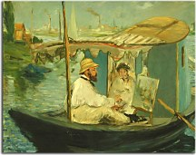 Monet in his Floating Studio - Reprodukcia zs17705
