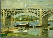 The Bridge over the Seine Reprodukcia Claude Monet zs17715