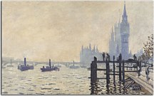 Reprodukcia Monet - The Thames below Westminster zs17835