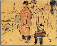 Obraz - Pablo Picasso and Sebastia Junyer-Vidal arrives to Paris zs17919