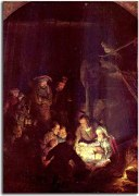 The Adoration of the Shepherds - Reprodukcia Rembrandt - zs18021