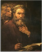 St. Matthew and The Angel - Reprodukcia Rembrandt - zs18040