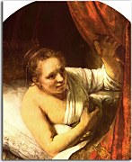 Reprodukcia Rembrandt - Woman in bed zs18046