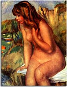 Bather seated on a rock Obraz zs18057
