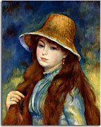 Girl with a straw hat Obraz  Renoir zs18076